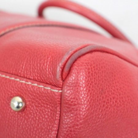 CAROLINA HERRERA Red Leather Matteo Tote Item16110 j