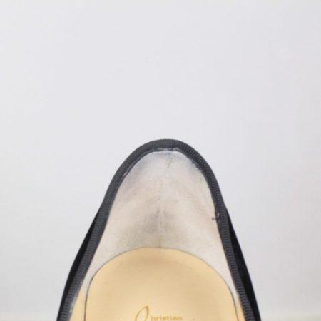 CHRISTIAN LOUBOUTIN Diva Cora 100 Velvet Heels Size USA 7 Euro 37 Item16376 g
