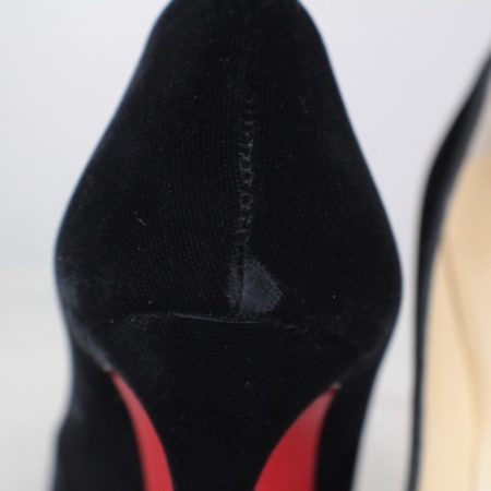 CHRISTIAN LOUBOUTIN Diva Cora 100 Velvet Heels Size USA 7 Euro 37 Item16376 h