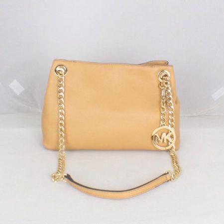 MICHAEL KORS Tan Leather Chain Shoulder Bag Item16545 a