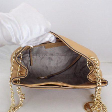 MICHAEL KORS Tan Leather Chain Shoulder Bag Item16545 b