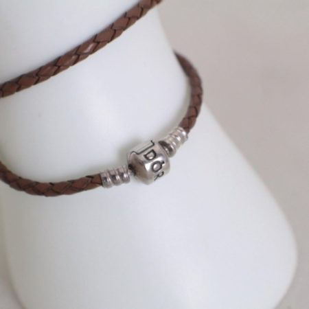PANDORA Brown Rope Bracelet Item16038 e