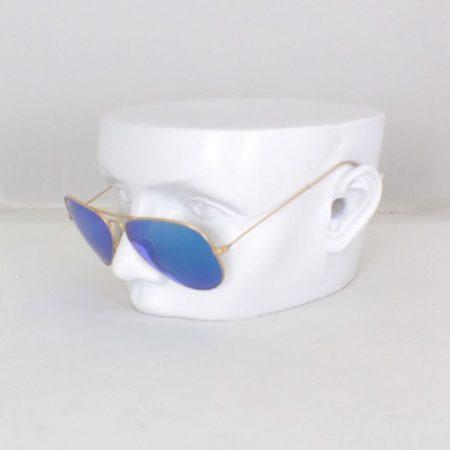 RAY BAN Blue Aviator Sunglasses Item15845 a