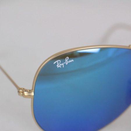 RAY BAN Blue Aviator Sunglasses Item15845 f