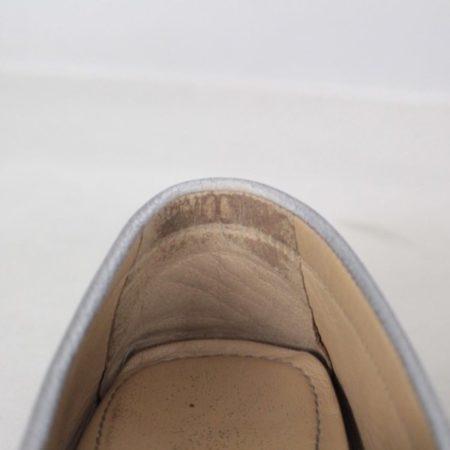 SALVATORE FERRAGAMO Silver Leather Loafers Size USA 7 Euro 37 Item16375 i