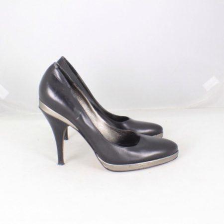 HUGO BOSS Black Leather Pumps size US 6 Eur 36 item13829 g