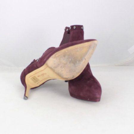 KARL LAGERFELD Burgundy Suede Booties size US 6.5 Eur 36.5 item15739 f