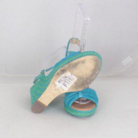 KATE SPADE 17456 Blue Green Open Toe Wedges size US 8 Eur 38 c
