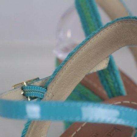 KATE SPADE 17456 Blue Green Open Toe Wedges size US 8 Eur 38 g