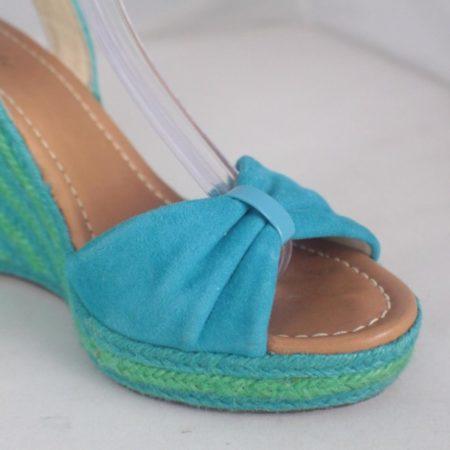 KATE SPADE 17456 Blue Green Open Toe Wedges size US 8 Eur 38 j
