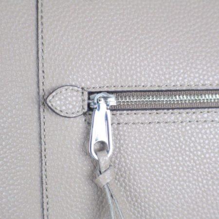 REBECCA MINKOFF Grey Leather Tote item17075 d