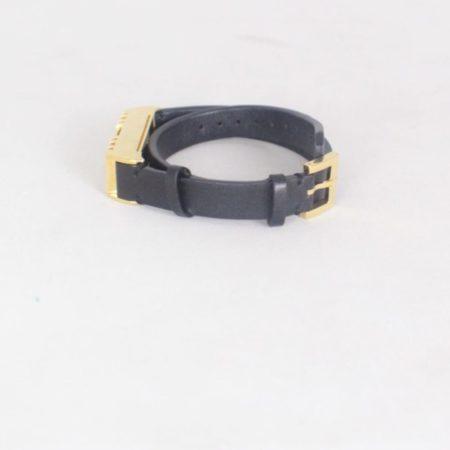 TORY BURCH 17450 Black Leather Fitbit Case Bracelet b
