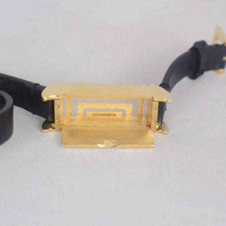 TORY BURCH 17450 Black Leather Fitbit Case Bracelet c