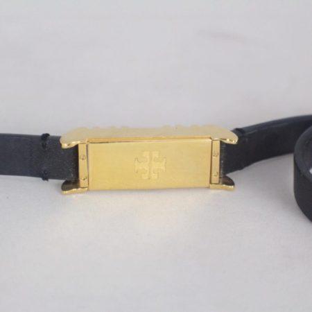 TORY BURCH 17450 Black Leather Fitbit Case Bracelet d