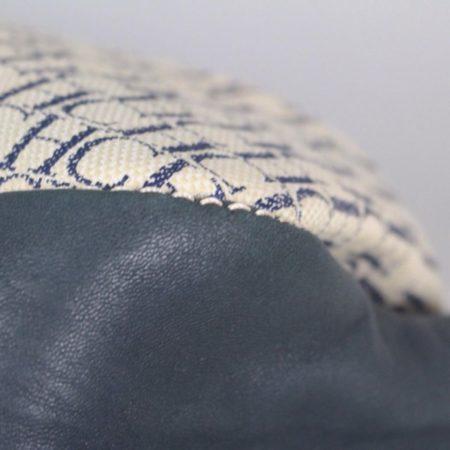 CAROLINA HERRERA 18801 Navy Blue Logo Tote f