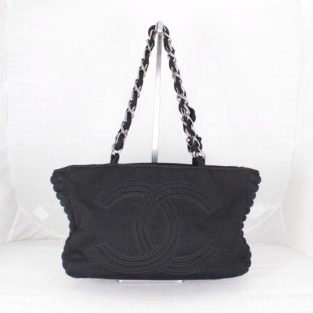 CHANEL 18616 Black Quilted Shoulder Bag a