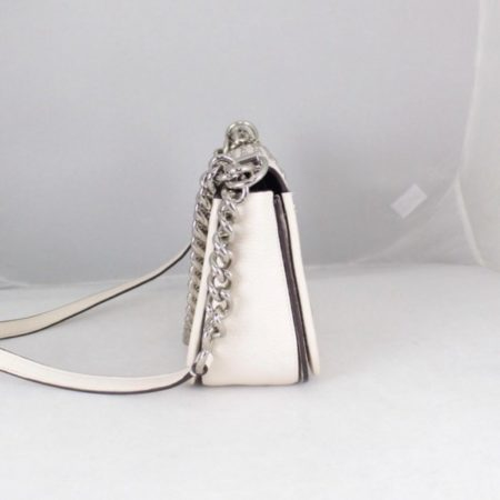 COACH 18300 White Leather Chain Crossbody b