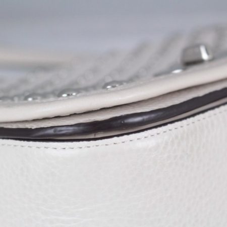 COACH 18300 White Leather Chain Crossbody d