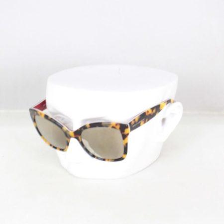 DOLCE GABBANA 18811 Tortoise Rectangular Sunglasses a