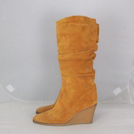 SALVATORE FERRAGAMO 19583 Camel Suede Boots size US 8 Eur 38 b