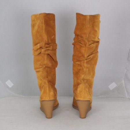 SALVATORE FERRAGAMO 19583 Camel Suede Boots size US 8 Eur 38 c