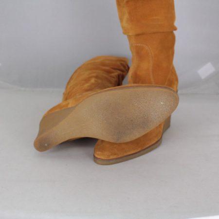 SALVATORE FERRAGAMO 19583 Camel Suede Boots size US 8 Eur 38 d
