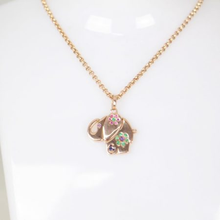 TOUS 19195 Rose Gold Elephant Necklace b