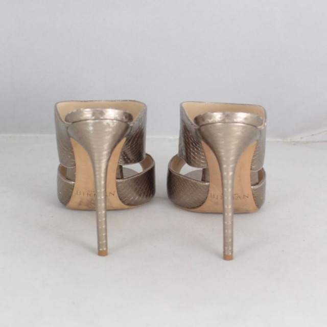 ALEXANDER BIRMA 20645 Rose Gold Metallic Peep Toe Heels size US 10 Eur 40 b