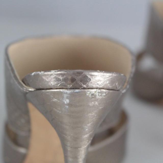 ALEXANDER BIRMA 20645 Rose Gold Metallic Peep Toe Heels size US 10 Eur 40 c