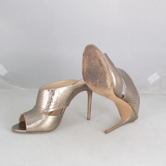 ALEXANDER BIRMA 20645 Rose Gold Metallic Peep Toe Heels size US 10 Eur 40 d