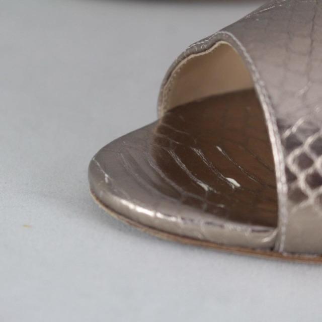 ALEXANDER BIRMA 20645 Rose Gold Metallic Peep Toe Heels size US 10 Eur 40 e