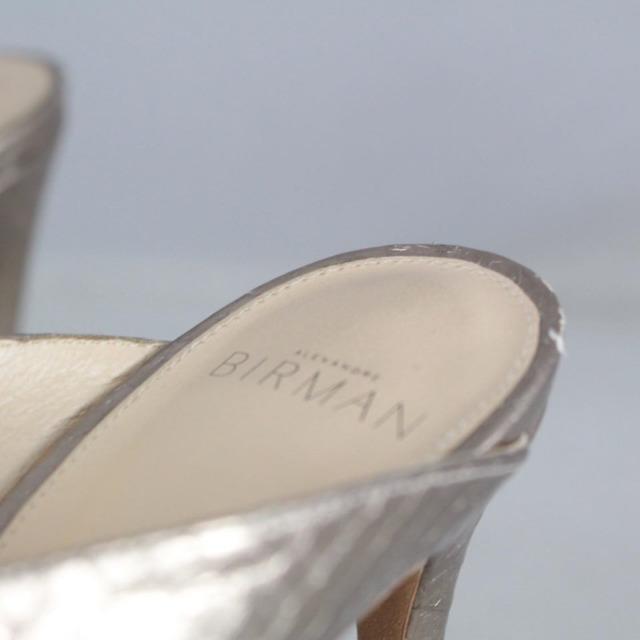 ALEXANDER BIRMA 20645 Rose Gold Metallic Peep Toe Heels size US 10 Eur 40 f