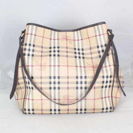 BURBERRY 20424 Brown Check Large Tote a