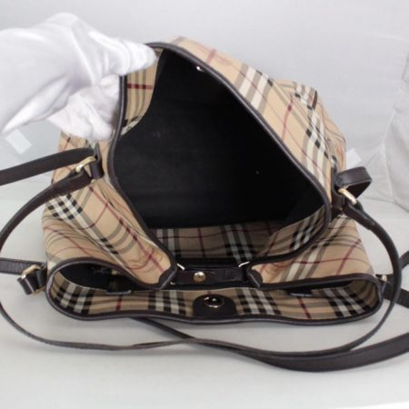 BURBERRY 20424 Brown Check Large Tote g