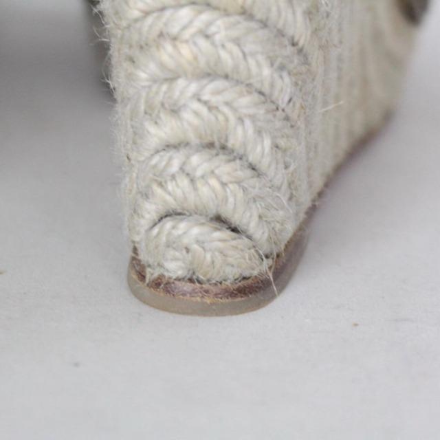 CHRISTIAN LOUBOUTIN 20439 Silver Tone High Espadrilles size US 10 Eur 40 c