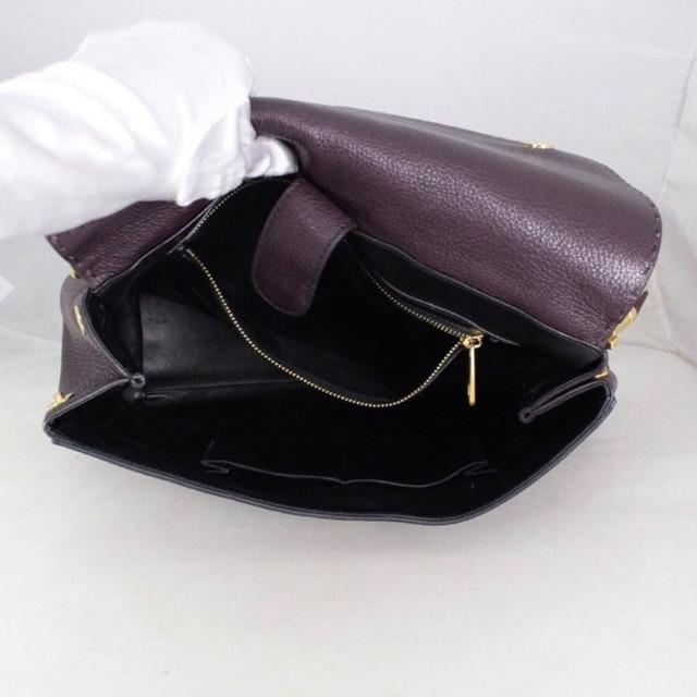 DOLCE GABBANA 20053 Burgundy Leather Tote h