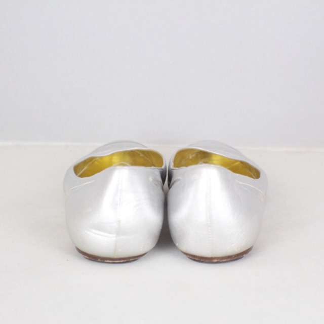 DOLCE GABBANA Metallic Silver Tone Flats Size USA 10 Euro 40 Item14925 h