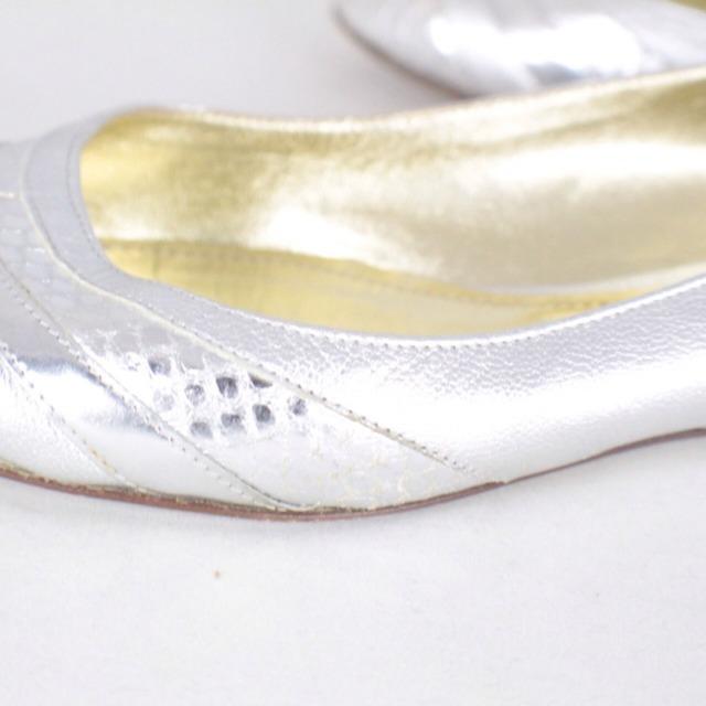 DOLCE GABBANA Metallic Silver Tone Flats Size USA 10 Euro 40 Item14925 i