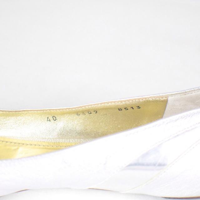 DOLCE GABBANA Metallic Silver Tone Flats Size USA 10 Euro 40 Item14925 j