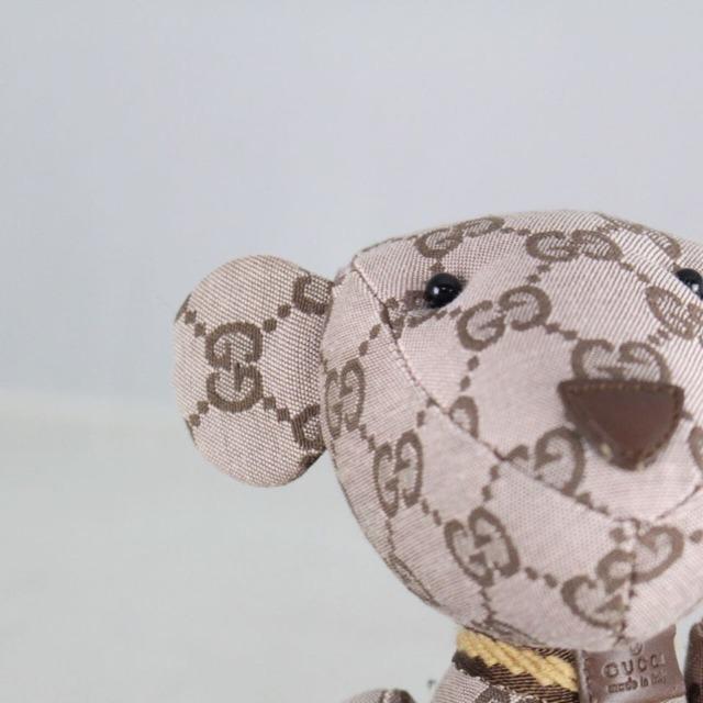GUCCI 20776 Brown Logo Teddy Bear c