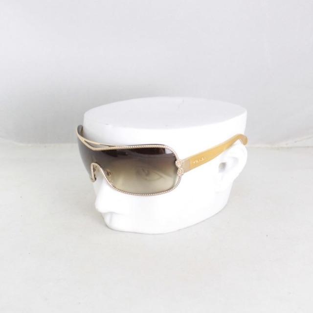 PRADA 20453 Brown Oval Sunglasses a