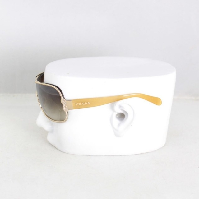 PRADA 20453 Brown Oval Sunglasses b