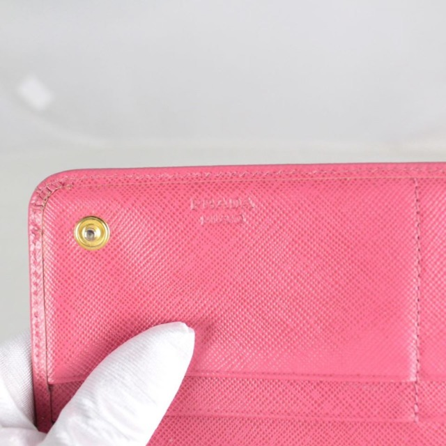 PRADA 20779 Hot Pink Leather Wallet d