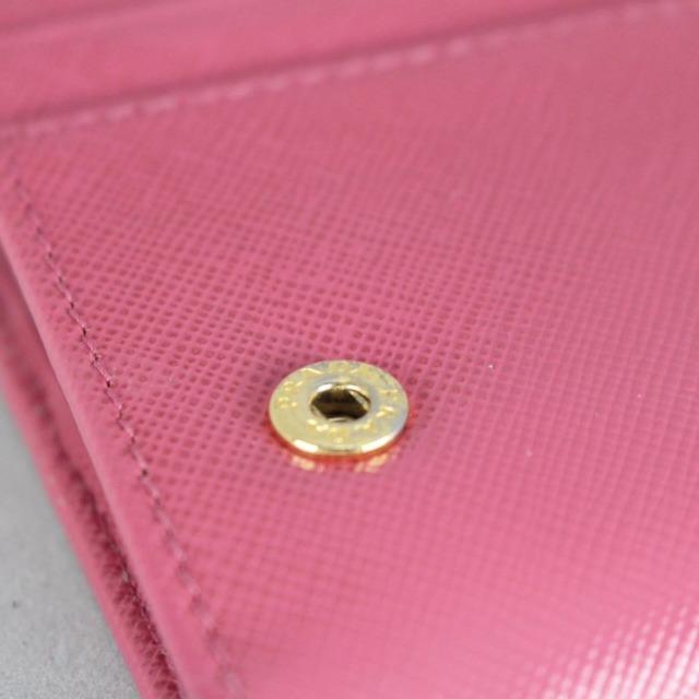 PRADA 20779 Hot Pink Leather Wallet f