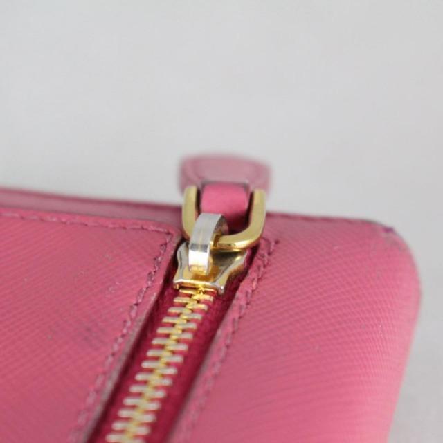 PRADA 20779 Hot Pink Leather Wallet g