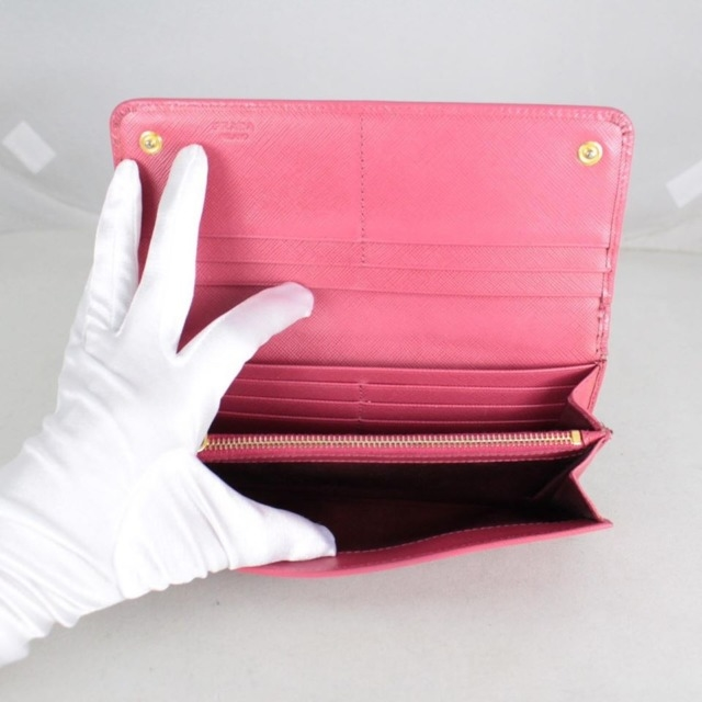 PRADA 20779 Hot Pink Leather Wallet h