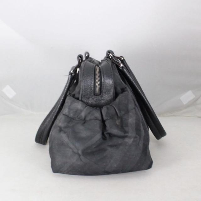 BURBERRY 20977 Black Checker Nylon Satchel b