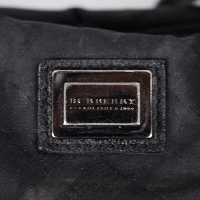 BURBERRY 20977 Black Checker Nylon Satchel c