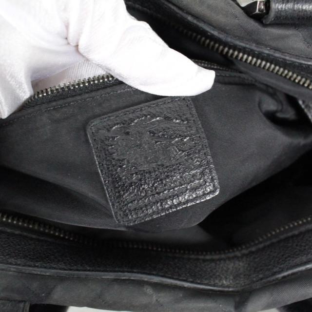 BURBERRY 20977 Black Checker Nylon Satchel d