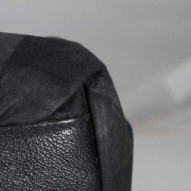 BURBERRY 20977 Black Checker Nylon Satchel f
